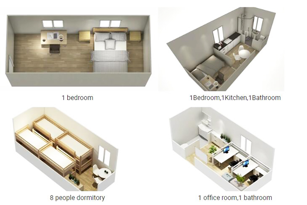 Container house inside layout