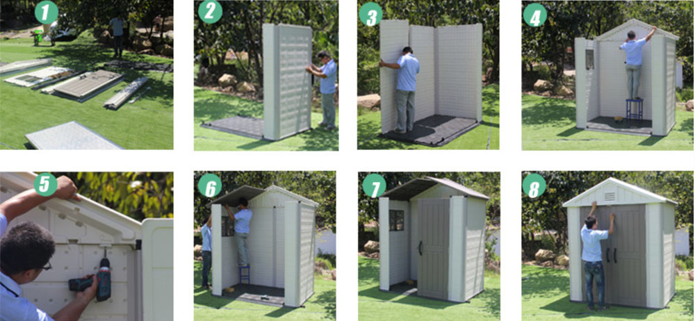 Installation process of garden sheds
