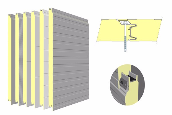 Sandwich panel connection
