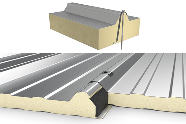 pu sandwich panel roof join type