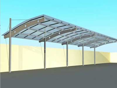 steel structure carport building