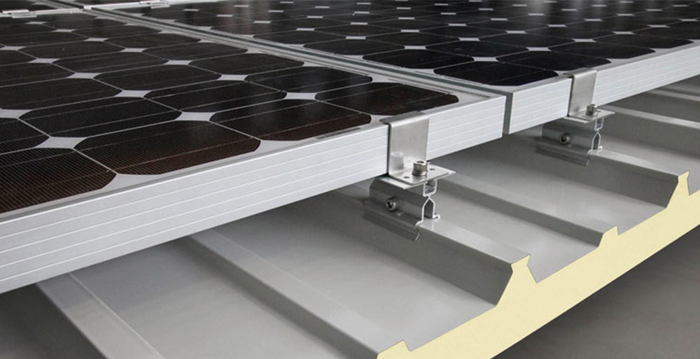 Insulated sandwich panels with solar panels