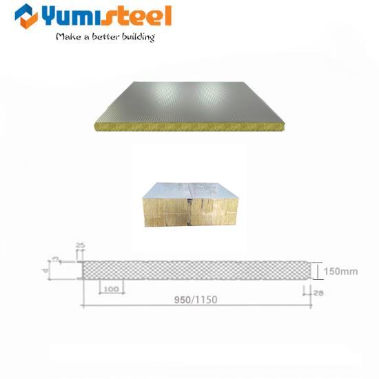 Firepoof Rock Wool Sandwich panel