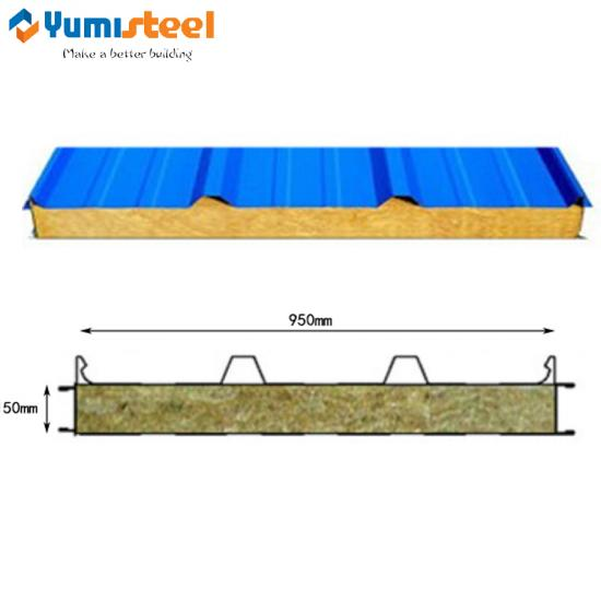 Color steel metal sandwich panel