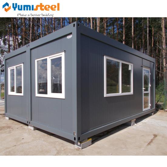 prefab two rooms container house